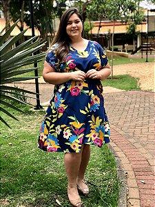 Vestido Cloe Floral Blue