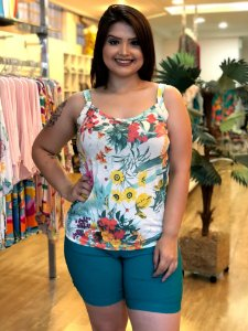 Regata Estampada Sea Plus Size