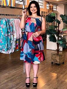 Vestido Geométrico Milan Plus Size