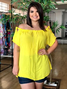 Blusa Paris Yellow Plus Size
