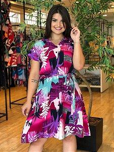 Vestido Win Plus Size com Fechamento em Botões