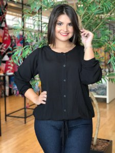 Blusa Black Winter Plus Size