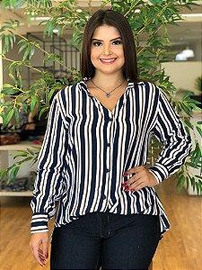 Camisa de Listras Helene Plus Size