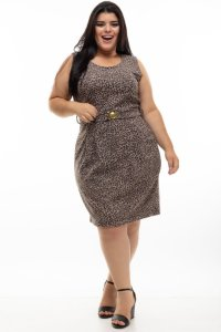 Vestido Lux Animal Print Plus Size