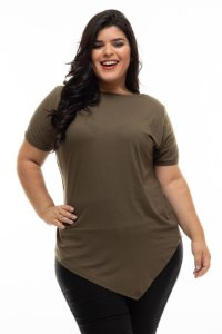Blusa Militare Green Plus Size