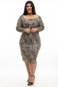Vestido Zoo Animal Print Plus Suze