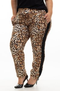 Calça Pocket Animal Print Plus Size