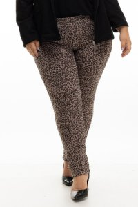 Calça Bomber Animal Print Plus Size