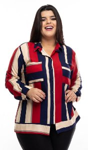 Camisa Blue Wine Plus Size
