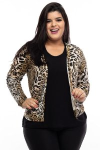 Cardigan Gold Animal Print