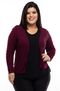 Cardigan Wine Plus Size