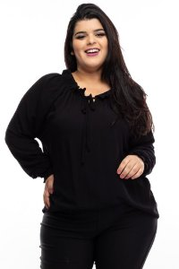 Blusa Black Nature Plus Size
