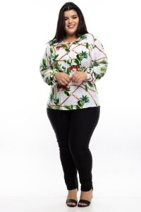 Blusa Estampada Lince Plus Size