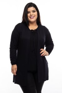 Cardigan Long Black Plus Size