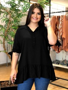 Blusa Life Blue Plus Size