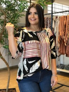 Blusa Happy Plus Size