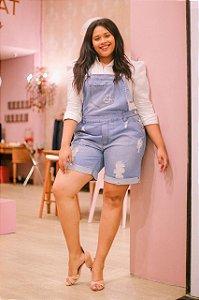 Jardineira jeans Plus Size