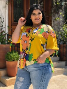 Blusa Yellow Plus Size