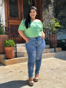 Blusa Aqua Green Plus Size