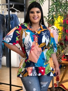 Blusa Life Stamp Plus SIze