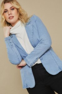 Blazer Jeans com Botão