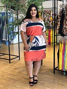 Vestido Mix Casual Plus Size