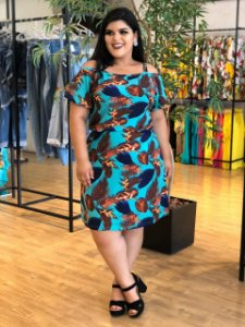 Vestido Mix Green Plus Size