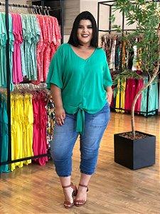 Blusa Athena Verde Plus Size