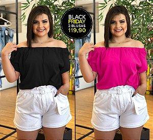 Kit Menphis Black Pink com 2 Blusas (Economize R$40)