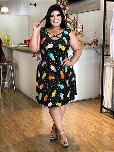 Vestido Abacaxi Plus Size
