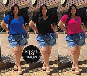 Kit Com 3 T-Shirts DM Coloridinhas (Economize R$ 60,00)