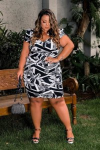 Vestido Estampado Black White