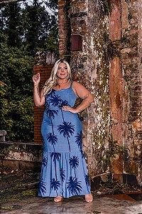 Vestido Longo Santorini Blue