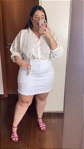 Saia Jeans Super Branco