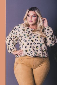 Blusa Safari Plus Size