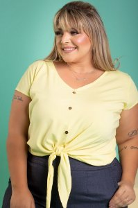 Blusa Clean Plus Size (Viscose com Elastano)
