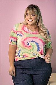 Blusa T-Shirt Tie Dye Plus Size