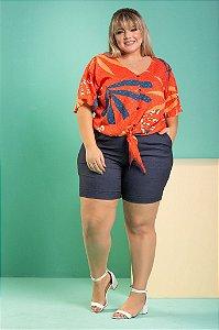 Short de Bengaline Azul estilo jeans