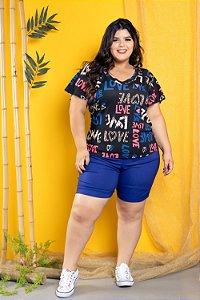Short de Bengaline Azul Royal