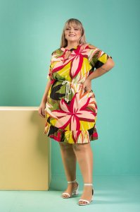 Vestido Flowers Plus Size