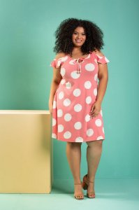 Vestido Poá Rosê
