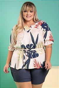 Camisa Helene Estampada Plus Size