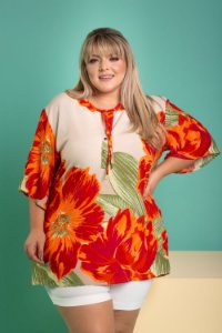 Camisa Estampa Luxo Plus Size