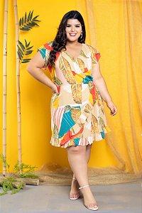 Vestido Tropical Transpassado