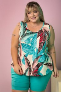 Blusa Power Estampada Plus SIze