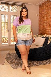 Blusa Cores Plus Size