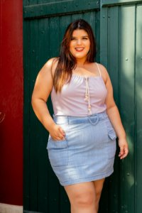 Saia Jeans Candy Love Plus Size