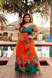 Vestido Longo Vitória Orange