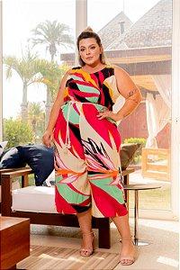 Macacão Fashion Geométrico