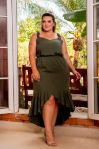 Vestido City Plus Size